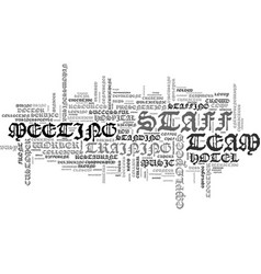 staff word cloud concept vector image vector image