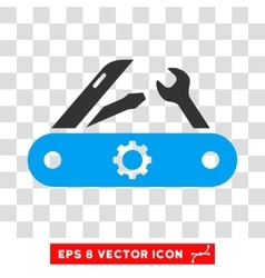 Swiss knife eps icon vector