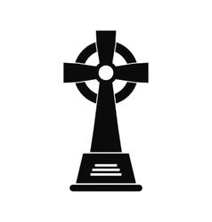 Tombstone black simple icon vector