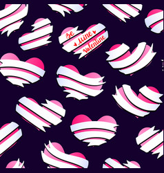 valentines hearts banner pattern 2 vector image