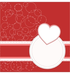 valentines invitation card vector image