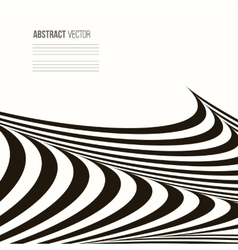 Wavy background Geometric pattern vector image