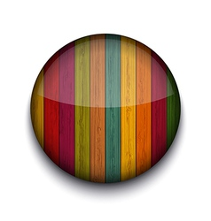 Circle wooden app icon vector