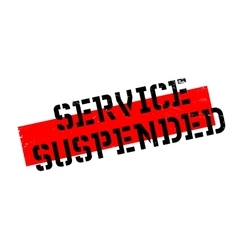 Service suspended rubber stamp vector