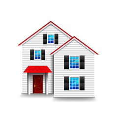 Small three-storey house isolated on white vector