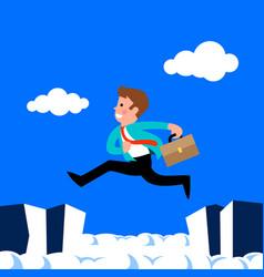 Businessman jump vector