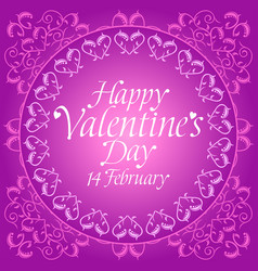 Purple happy valentines day background card vector