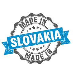 Made in slovakia round seal vector