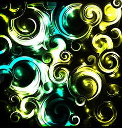 Shiny cosmic curls background vector image