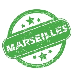 Marseilles green stamp vector
