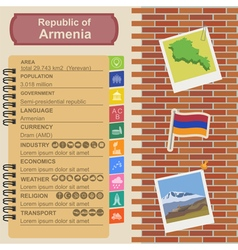 Armenia infographics statistical data sights vector