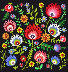 Folk pattern flowers vector
