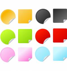 set of multicolored badges vector image