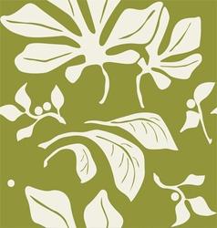 Abstract plants seamless wallpaper vector image