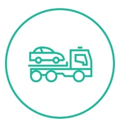 Car towing truck line icon vector