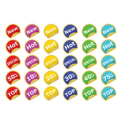 Color stickers vector