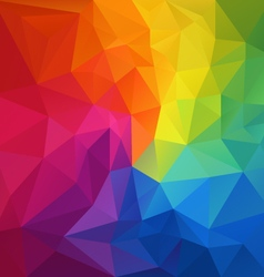 Color full spectrum rainbow polygon triangular vector