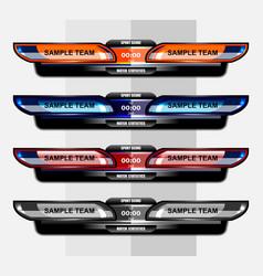 sport score template design vector image