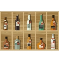 Icons of alcoholic beverages vector