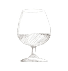 Glass of wine or brandy icon vector