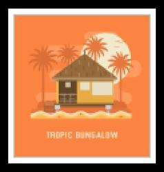 Tropic bungalow house vector
