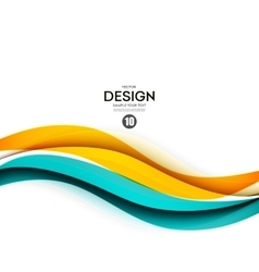 Abstract smooth wave motion vector image vector image