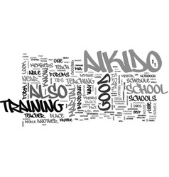 Aikido school text word cloud concept vector