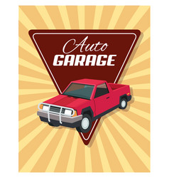 auto garage car design vector image
