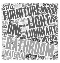 Bathroom From Over The Moon Part Two text vector image vector image
