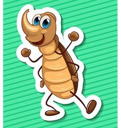 Beetle vector image