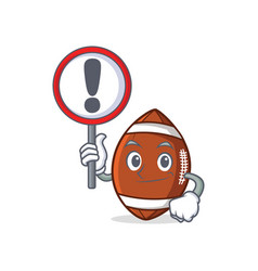 bring sign american football character cartoon vector image vector image