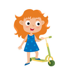 Cute concept of little girl vector