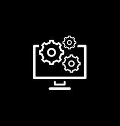 Data management icon flat design vector
