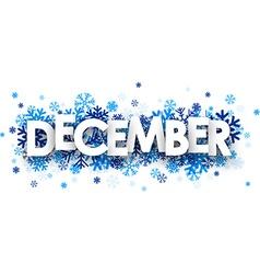 December sign vector image