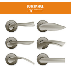 door handle set realistic classic element vector image vector image