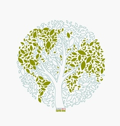 Earth tree vector
