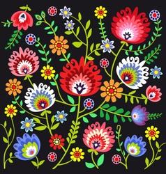 Folk pattern flowers vector