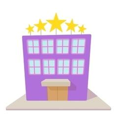 Hotel five stars icon cartoon style vector