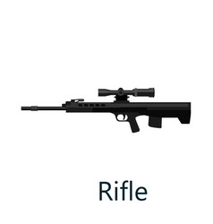 Hunting repeating air rifle weapon isolated on vector