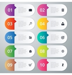 infographics ten options vector image