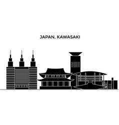 Japan kawasaki architecture city skyline vector