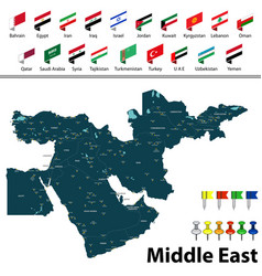 map of middle east vector image