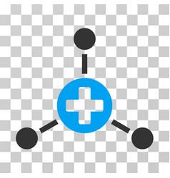 Medical center icon vector