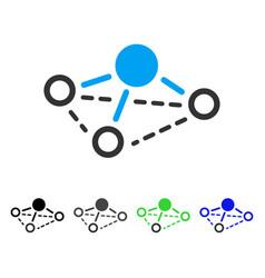 Molecule flat icon vector