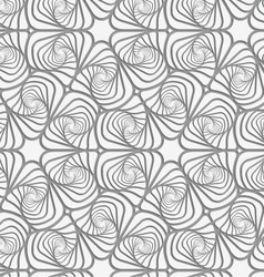 Perforated swirly striped rounded shapes vector