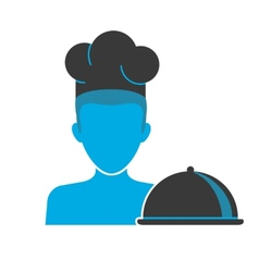 Restaurant chefs blue icon vector image