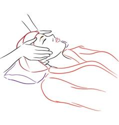 Series Spa Salon Woman at spa vector image