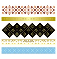 set of various ornaments vector image