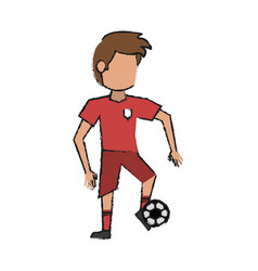 soccer player design vector image