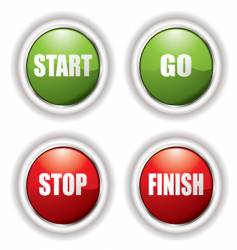 stop start button vector image vector image